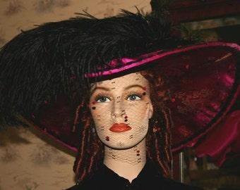 Kentucky Derby Hat Titanic Tea Hat Edwardian Hat - China Doll
