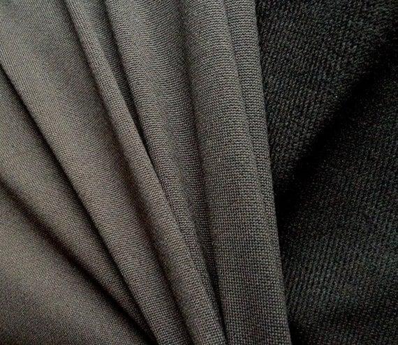 2 Yards - Nike Dri-Fit Brush-Back Wicking Fabric - Black