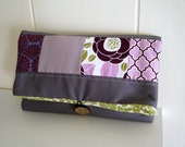 Fabric Artsy Clutch in Amethyst Patchwork by Sweet Sparrow