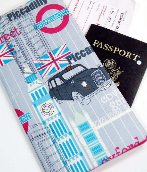Travel Passport Wallet in I See London