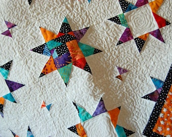 Colorful Star Crib/Baby/Lap Quilt