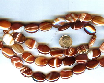 20mm Stunning Red Sardonyx Puffed Oval Pendant Beads Grade A 4Pcs