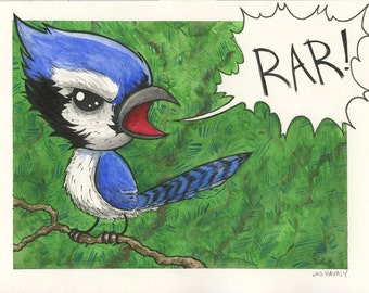 The Ferocious Blue Jay