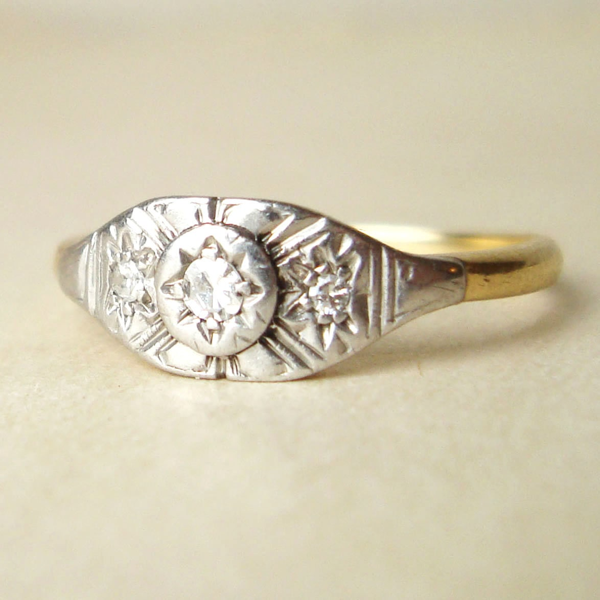 antique deco engagement ring deco by