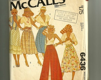 Vintage McCalls' Misses Skirt and Petticoats Pattern 6436