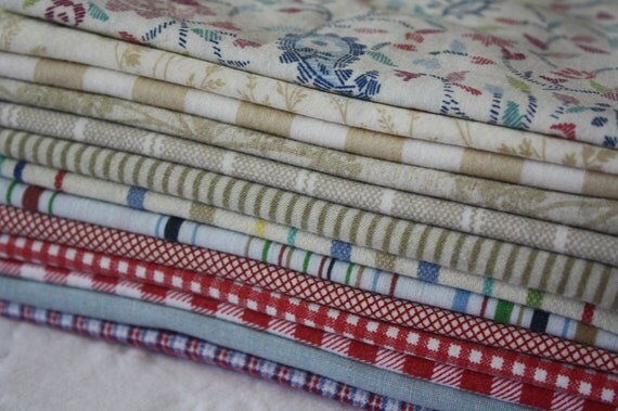 Fat Quarter Bundle-Reclaimed Bed Linens-Freedom