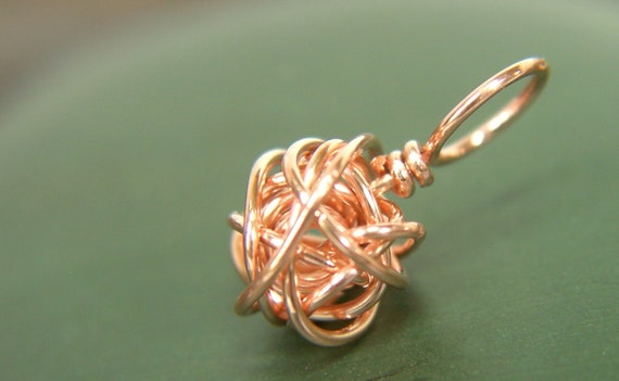 Copper Wire Ball Stitch Marker - Sized and Made to Order - US6 to US15