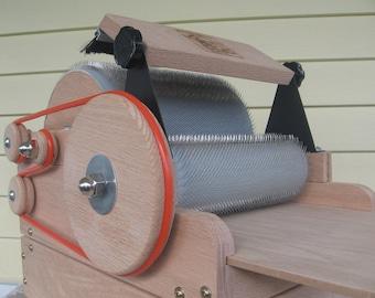 Fancy Kitty KITTEN 54/54 Art Batt  Fiber Drum Carder with Motorization kit and brush attachment