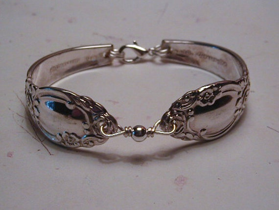 Spoon Bracelet Recycled Silverware Jewelry Country Lane Ballad Made to Order