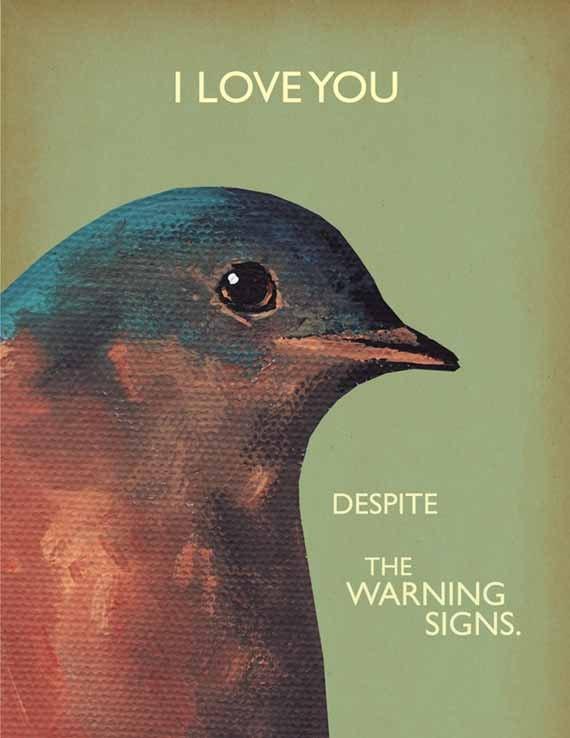 Warning Signs note card