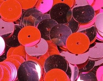 10mm Flat Metallic Neon Fuchsia Sequin (1000 Pcs) #581