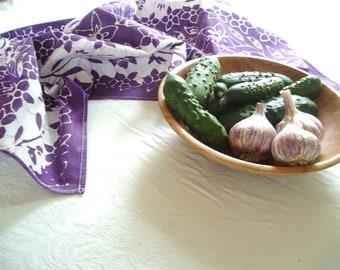 violet floursack towel