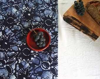 navy blue linen towel. hand dyed