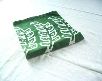 forest green tea towel