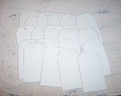Small Paper Tag White Linen