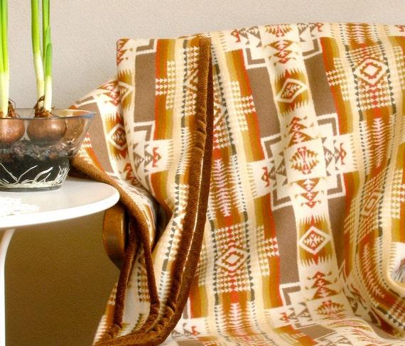 Pendleton Wool Blanket Native American Chief Joseph Design In