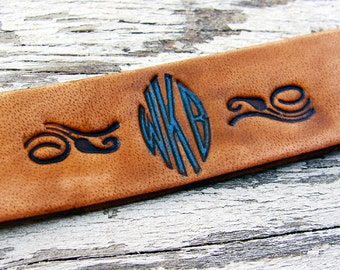 Personalized Bracelet Virkotype Leather Monogram