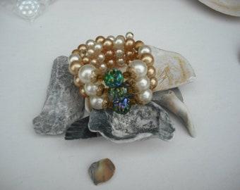 Vintage Pearl Coil Bracelet
