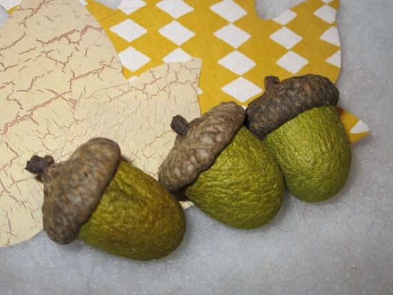 Silk Cocoon Acorns (Lot D ) Set of Three