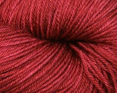 Dyed to Order - Knitting Yarn Merino Wool Silk Hand Dyed Yarn - Fingering Weight, Almost Solid, 440yds - Burgundy