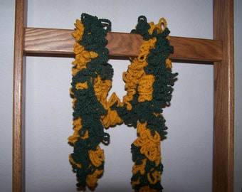 Football Fringes Scarf, crocheted, PDF pattern, download, in your favorite team colors