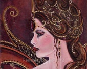 Aceo print the Melita Fairy Fantasy art  by Renee L. Lavoie