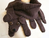 Digital PDF Crochet Pattern for Puppy Love Scarf - DIY Fashion Tutorial - Instant Download - ENGLISH only