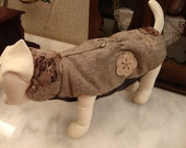 dog clothes - pet clothes MADE TO MEASURE -  dog pet   winter coat  - jacket