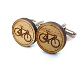 Bicycle Cufflinks. Bike Cufflinks. Wood Cufflinks. Groomsmen Gift. Groom Gift. Gift For Men. Mens Gift. Gifts For Dad. Gifts Under 25. Bike.