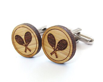 Tennis Cufflinks. Wood Cufflinks. Groomsmen Gift. Groom Gift. Gift For Men. Mens Gift. Gifts For Dad. Gifts Under 25. Tennis Gift. Cuff Link