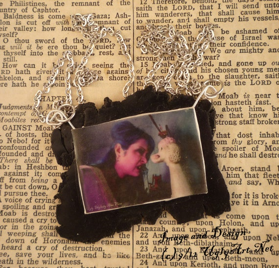 Growl Picture Necklace by Ugly Shyla