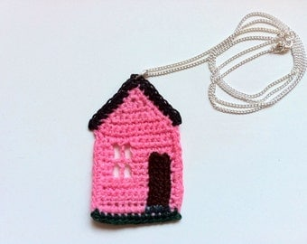 Pink House Pendant