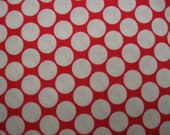 Amy Butler Full Moon Polka Dot Cherry - 3 yards - quilt weight fabric
