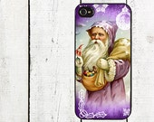 Purple Santa Claus Phone Casefor iPhone 4 4s 5 5s 5c SE 6 6s 7  6 6s 7 Plu Galaxy s4 s5 s6 s7 Edge