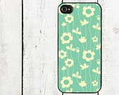 Teal Flower Phone Case for  iPhone 4 4s 5 5s 5c SE 6 6s 7  6 6s 7 Plus Galaxy s4 s5 s6 s7 Edge