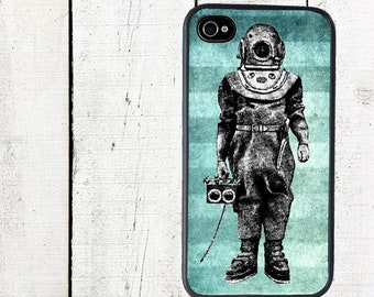 iphone 6 case Vintage Diver iPhone Case, Steampunk iPhone 4 Case - iPhone 5 Case - Galaxy s3 s4 s5