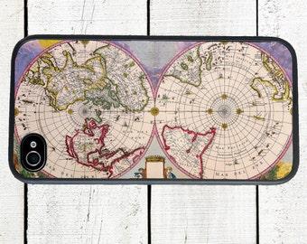 iphone 6 case Purple Vintage World Map iPhone case - iPhone 5 Case - iPhone 4,4s - Galaxy s3 s4 s5