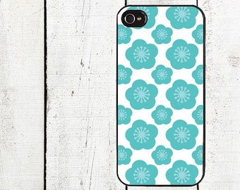 Whimsical Blue Flower Phone Case for  iPhone 4 4s 5 5s 5c SE 6 6s 7  6 6s 7 Plus Galaxy s4 s5 s6 s7 Edge