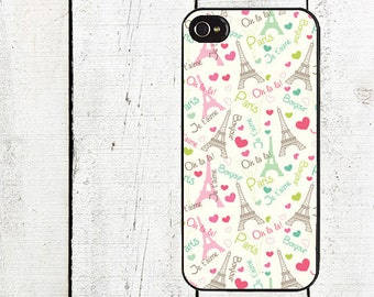 iphone 6 case Whimsical Paris Cell Phone Case - Pattern iPhone 4 Case - Cell Phone Case - iPhone 5 Case