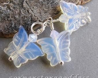 Opalite Moth Butterflies Butterfly Charm from Cornerstoregoddess