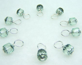 Spearmint Droplet Stitch Markers for Knitting (Choose Your Size - Set of 10)