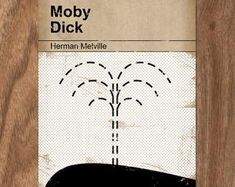 Moby Dick - Classic Vintage Book Cover Print