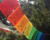 Rainbow Wind Horse Prayer Flags set of 9