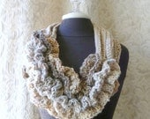 Bustle Scarf - Wild West Series -  Crocheted Scarf - Ready to Ship