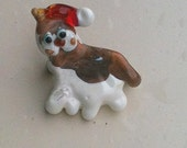 Santa Kitty Lampwork pin CGGE SRA