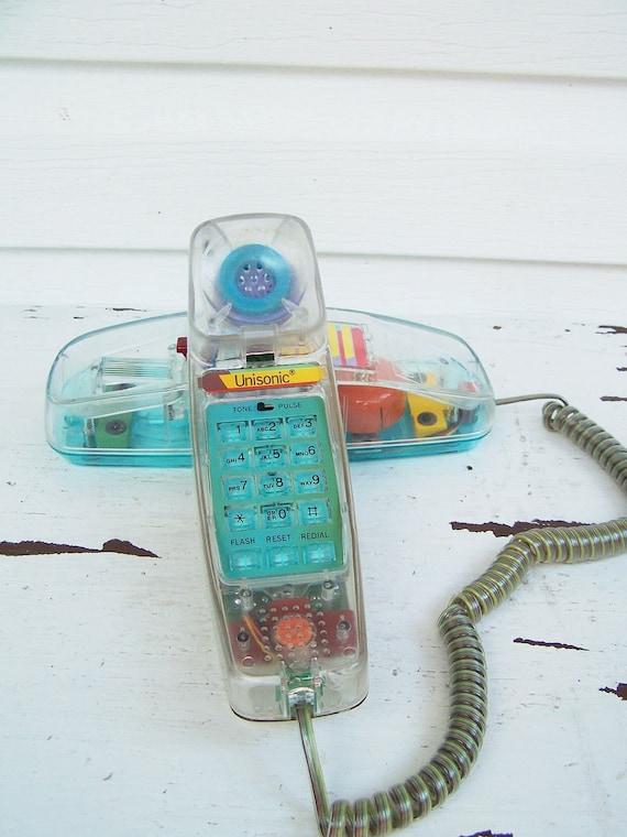 Vintage Unisonic Light Up Neon Phone