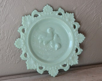 Westmoreland Milk Glass Chick Plate