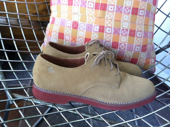 Vintage Bass Suede Shoes with rubber sole US women's size 7.5M