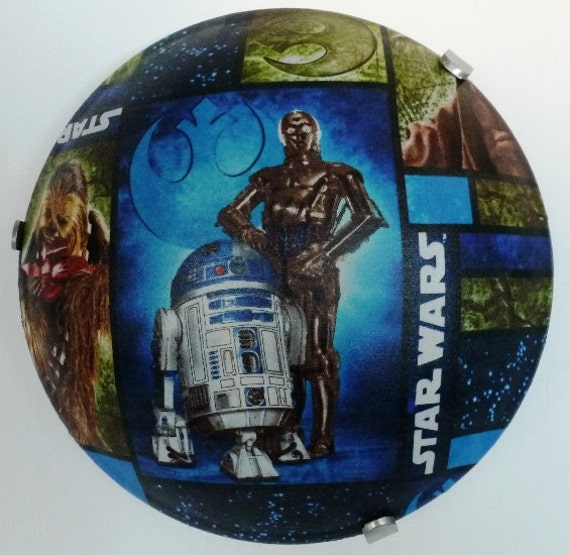 R2D2 C3P0 Star Wars 10 Round Ceiling Light Fixture by ...