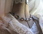 "Anna Wintour necklace, collet necklace, smoky topaz, brown statement necklace, topaz statement necklace. ""Autumn Bliss"""